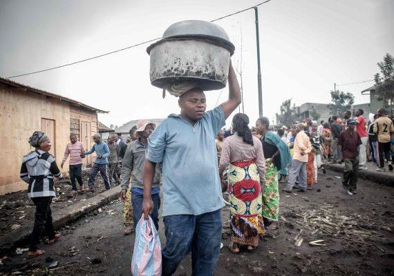 Anak-anak di Kongo Terpisah dari Keluarga karena Letusan Gunung Nyiragongo